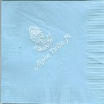 Napkin, Light Blue, White Foil Crest, Font NO, Alpha Delta Pi