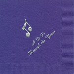 Napkin, Purple, Silver Notes, Font PA, Alpha Delta PI