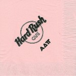 Napkin, Color discontinued, Black Ink, Hard Rush Cafe, Alpha Delta PI
