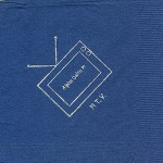 Napkin, Dark Blue, Silver TV, Alpha Delta PI