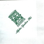Napkin, White, Green Ink, Alpha Epsilon Phi