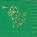 Alpha Phi Napkin, color discontinued, Gold Foil, Circus Clown