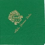 Alpha Gamma Delta Napkin, color discontinued, Gold Foil Crest, Font PA