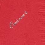 Napkin, Red, Silver Foil, Omicron's die, Alpha Omicron Pi