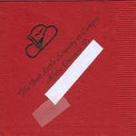 Napkin, Color discontinued, Black Ink, Cowboy Hat, Font Park Ave, Alpha Omicron Pi