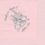 Napkin, Color discontinued, Silver Foil, Wonderful World of Alpha Phi