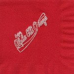 Napkin, Red, White Foil, Enjoy AXO Alpha Chi Omega