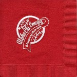 Napkin, Red, White Foil, AXO League Alpha Chi Omega