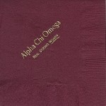 Alpha Chi Omega Napkin Gold Foil, Real Strong Women, color discontinued,