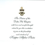 2-Color Engraved Flat Card, Font #8, Kappa Alpha Theta Bid Card