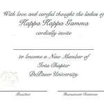 Inside Message, font #9, Kappa Kappa Gamma, any wording and font you desire