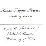 Inside Message, font #5, Kappa Kappa Gamma, any wording and font you desire