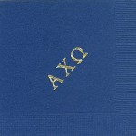 Alpha Chi Omega napkin, Navy, Gold Greek Letters