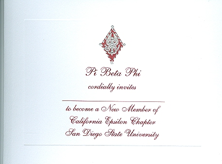 Letters Pi Beta Phi Notecards