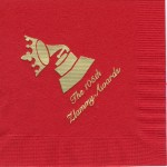 Zeta Tau Alpha red napkin, gold phono, Font special
