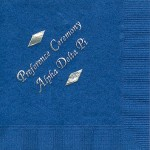 Napkin, Royal Blue, Silver Foil Preference Party, Alpha Delta Pi