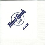 Napkin, White, Dark Blue Ink, Hard Rush Cafe  Alpha Delta Pi