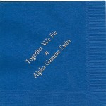 Napkin, Royal Blue(discontinued), Gold Foil Together We Fit, Font Garamond, Alpha Gamma Delta