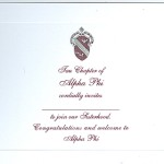 2-color engraved card-New artwork, Wine Ink, Font #8 Alpha Phi