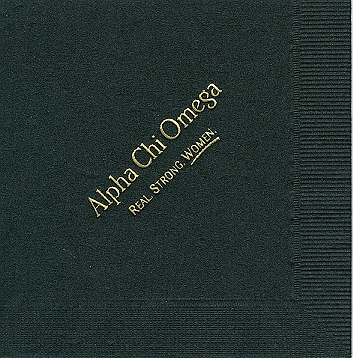 Alpha Stationery – Alpha Chi Omega Napkins