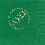 Alpha Chi Omega Napkin, color discontinued, Gold Foil, Centennial