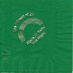 Napkin, Dark Green, Silver Foil Wizard of Xi, Alpha Xi Delta