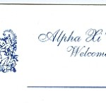 Place Card, Reflex BlueThermography, Alpha Xi Delta, Font #8