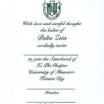 One Color Ink, Emerald Green Thermography, Font #9, Delta Zeta Bid Card