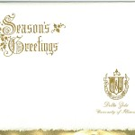 Seasons Greetings Front, Gold Foil Insert, Delta Zeta