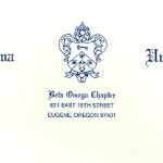Business Stationery, Fonts #10 & #30, Kappa Kappa Gamma