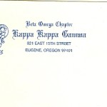 Business Stationery, Font  #30 & #10   , Kappa Kappa Gamma
