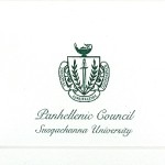 Fold-over Card, Panhellenic Council, Green Ink, Font #9