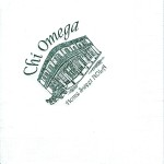 Napkin, White, Black Foil French Quarter, Chi Omega