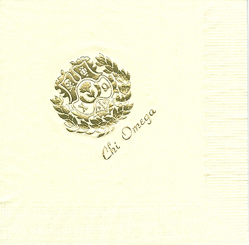 Alpha Stationery – Chi Omega Napkins
