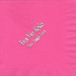 Napkin, Hot Pink, Silver print, Zeta Tau Alpha Live Laugh Love