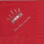 Napkin, Red, Silver Crown #2, Font PA, Zeta Tau Alpha