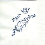Napkin, White, Crown and Zeta makes you Special, Blue Ink, Zeta Tau Alpha