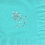 Napkin, Aqua, Lunch Size, Crest and Bid Day, Font Special, Zeta Tau Alpha