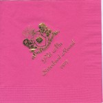 Phi Mu Napkins Hot Pink with gold foil Sisterhood Round