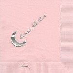 Gamma Phi Beta napkin, Color discontinued, Silver Foil