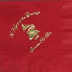 Napkin, Red, Gold Foil Grammys, Gamma Phi Beta
