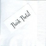 Napkin, Mock-up, Think Theta Sparkly Font, Kappa Alpha Theta
