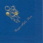 Napkin, Royal Blue (discontinued), Gold Foil, Balloons, Font Park Ave, Kappa Alpha Theta