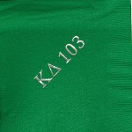 Napkin, color discontinued, Silver Foil, Kappa Delta