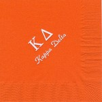 Napkin, Orange, White Foil Greek Letters, font, PA, Kappa Delta