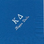 Napkin, Royal Blue, White Foil Greek Letters, font, PA, Kappa Delta