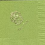 Napkin, color discontinued, Gold Foil Crest, font, PA, Kappa Delta