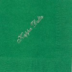 Kappa Delta Napkin, color discontinued, Silver Foil, Font #8 Large