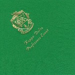 Napkin, color discontinued, Gold Foil Crest,, Font PA, Kappa Delta