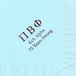 Pi Beta Phi Napkin, Lt Blue, Wine Foil, Greek Letters,  Font  Gaamond